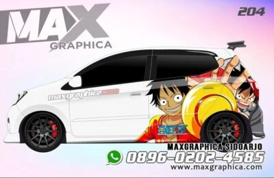 Cutting sticker mobil agya Putih